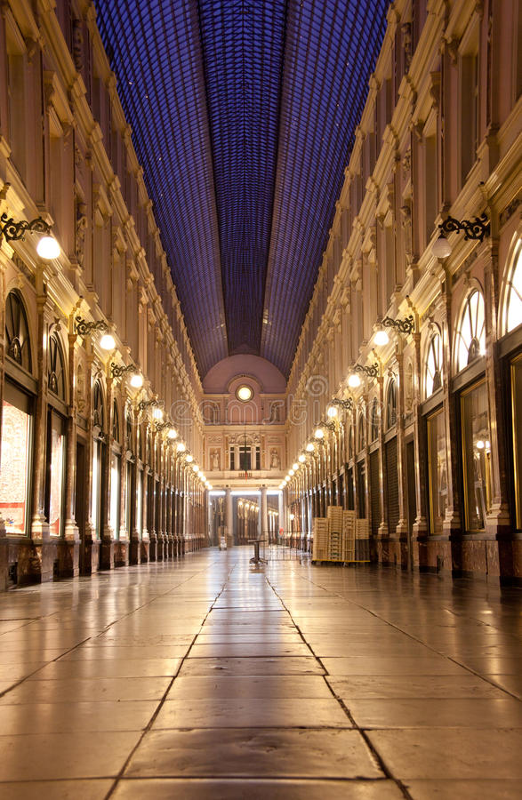 Brüssel, königliche Galerien des Heiligen Hubert lizenzfreies stockfoto