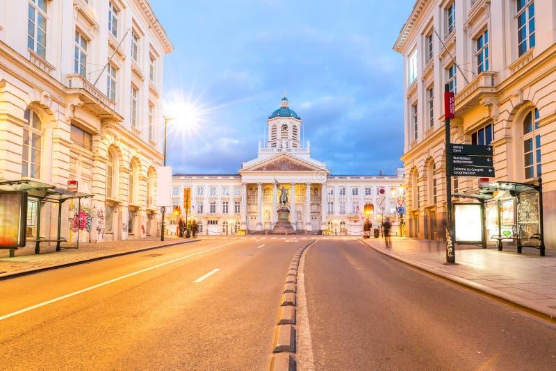 Brüssel königliches quadratisches Belgien stockbilder