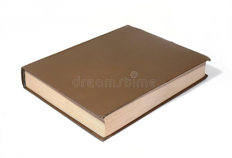 Brąz duży książka fotografia stock