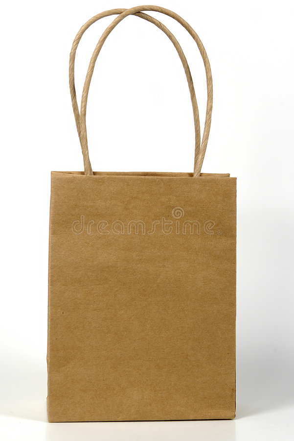 Download Brązową torbę zdjęcie stock. Obraz złożonej z zakupy, torba - 42560