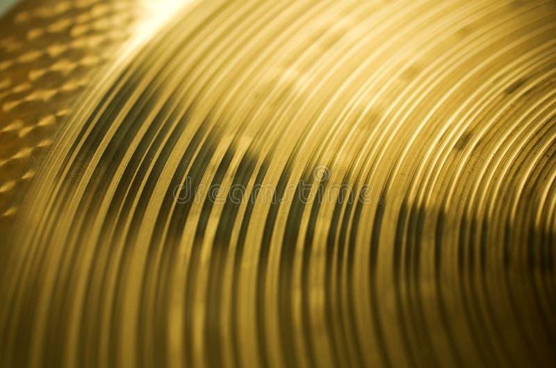 Brązowa cymbałki tekstura obrazy royalty free