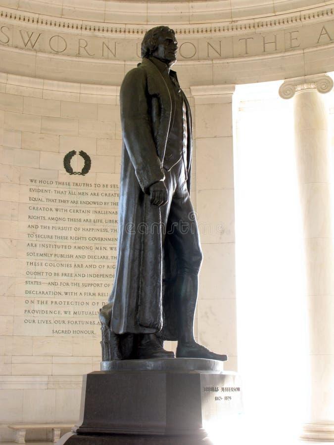 brązowa dc Jefferson pamiątkowa pomnik Waszyngtona obraz stock