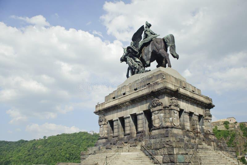 brązowa deutsches eck statua obrazy stock