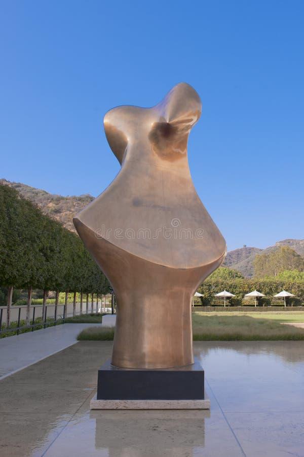 Brązowa forma, 1985, Henry Moore, półpostać, statua obraz royalty free