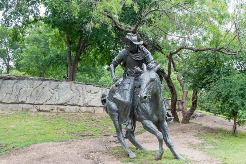 Brązowa Kowbojska rzeźba zdjęcia royalty free