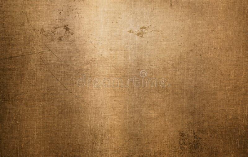 Brązowa lub miedziana metal tekstura obrazy royalty free