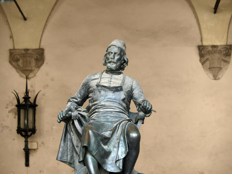 brązowa Lucca puccini statua obrazy stock