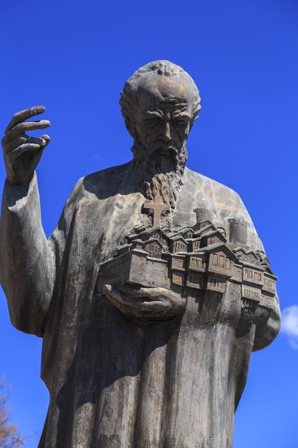 Brązowa rzeźba St Kliment Ohridski zdjęcia stock
