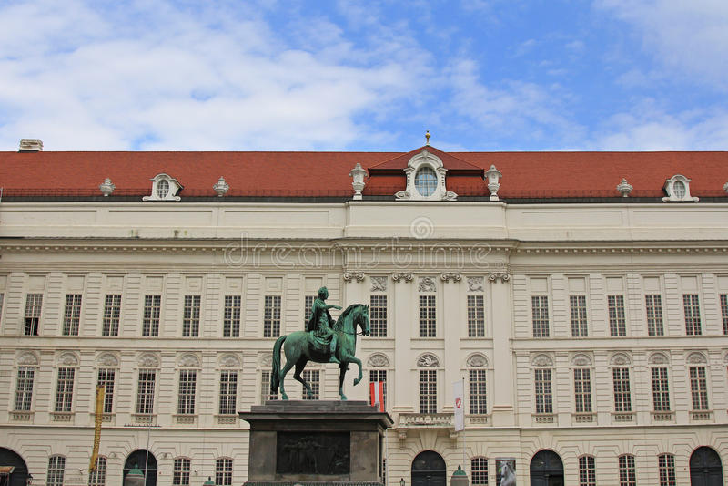 Brązowa statua cesarz Joseph II zdjęcia royalty free