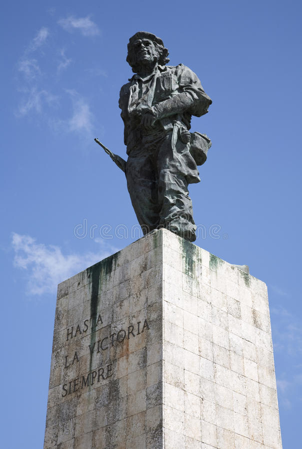 Brązowa statua Che Guevara, Santa Clara Kuba. zdjęcia stock