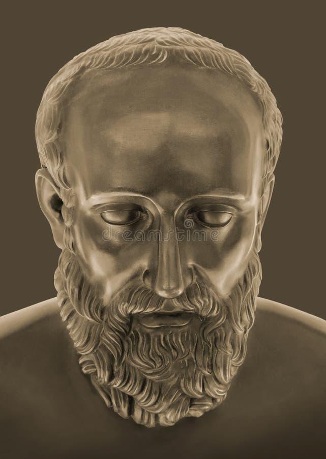 Br?zowa statua Hippocrates zdjęcie royalty free