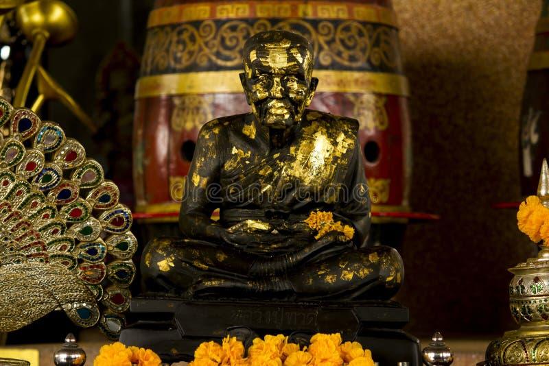 Brązowa statua medytuje michaelita zdjęcia stock