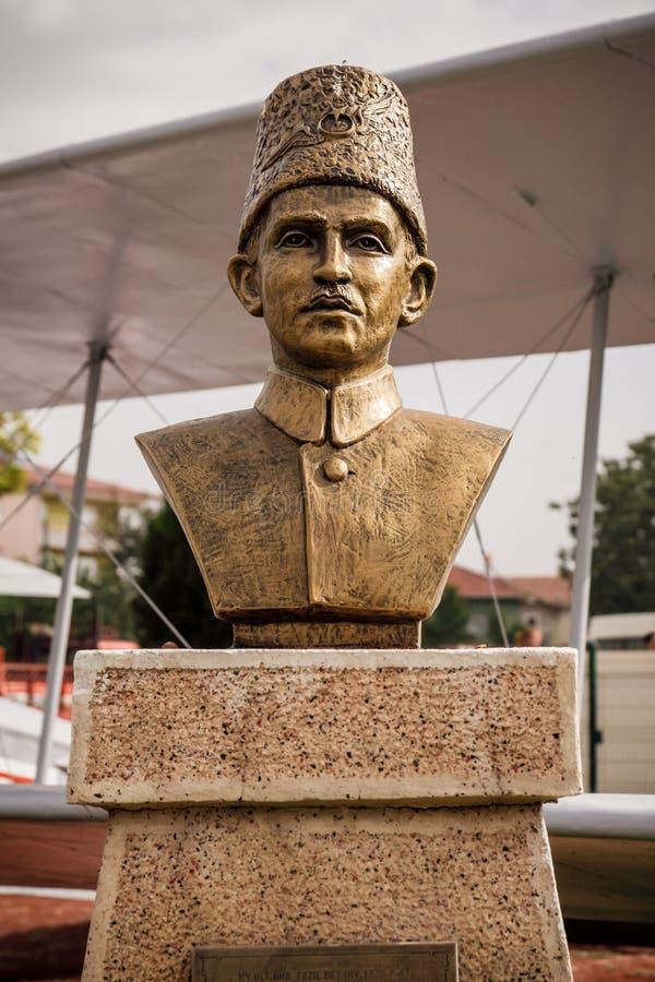 Brązowa statua niezależność Wojenni bohaterzy w Ankara zdjęcia stock