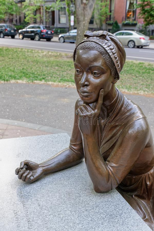 Brązowa statua Phillis Wheatley fotografia royalty free