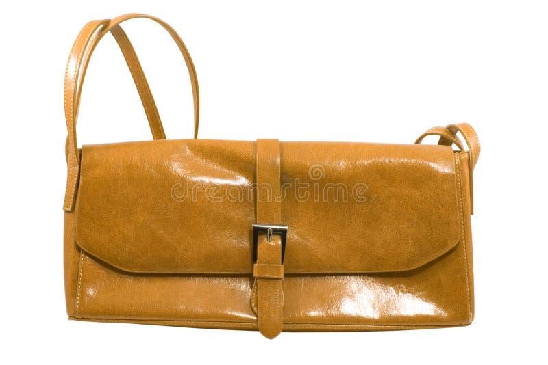 brązowa torebka modna fotografia stock