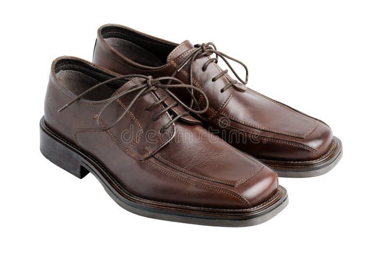 brązowe buty. zdjęcia royalty free