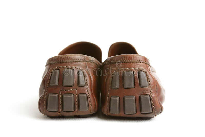 brązowe buty. zdjęcie royalty free