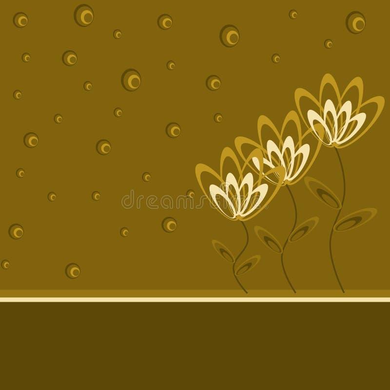 brązowe kwiaty ilustracja wektor