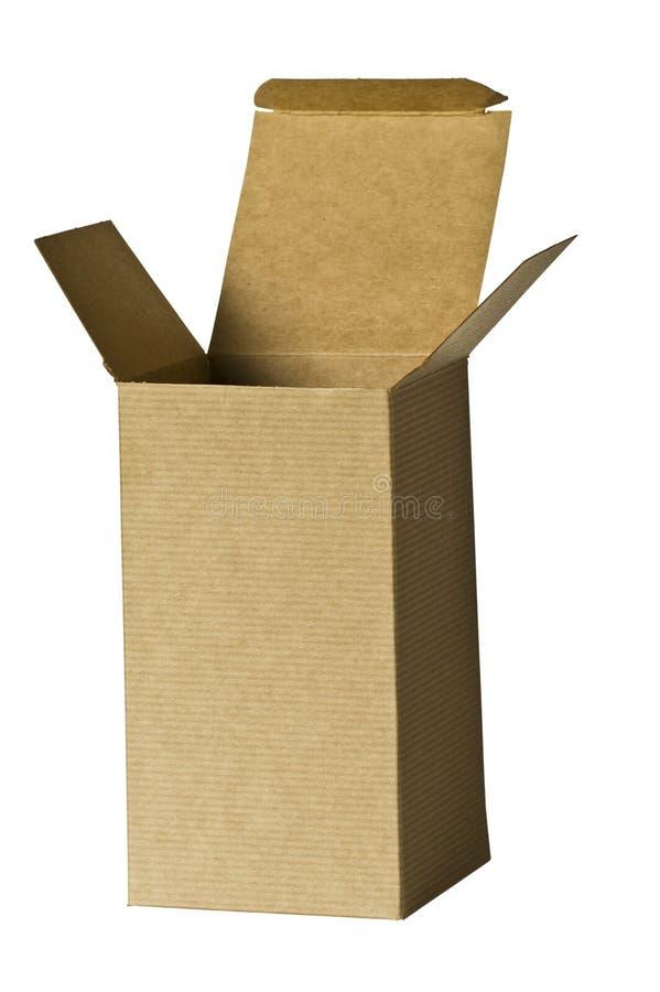 brązowe pudełko prezentu na wyższy proste zdjęcie royalty free