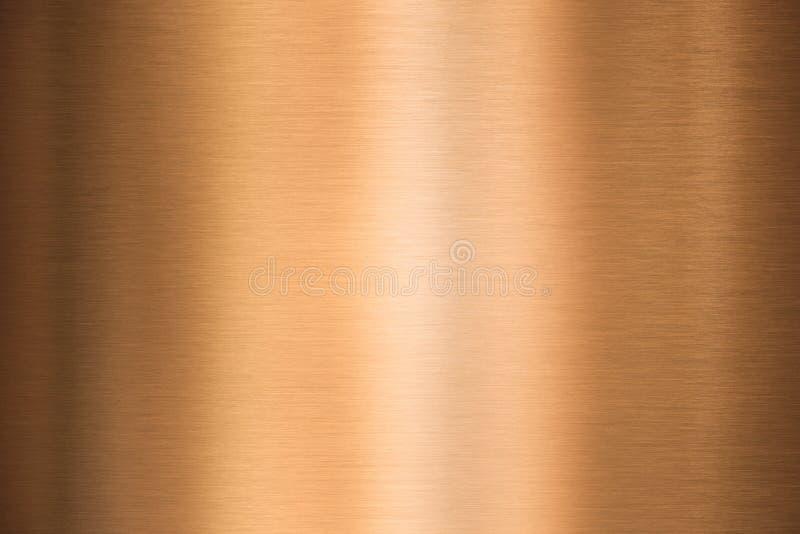 Brązowego lub miedzianego metalu oczyszczona tekstura obraz royalty free