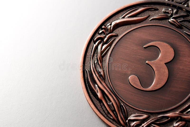 Brązowego medalu zwycięzca zdjęcie stock