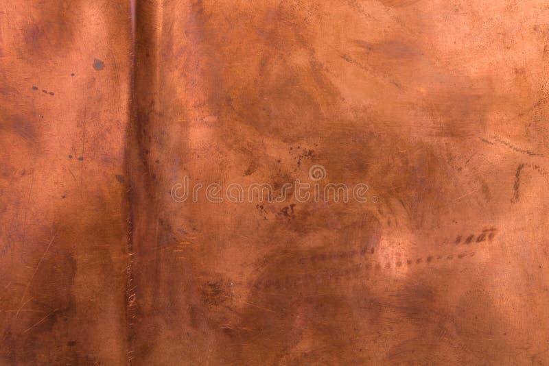 Brązowej miedzianej tekstury grunge stary tło obrazy stock
