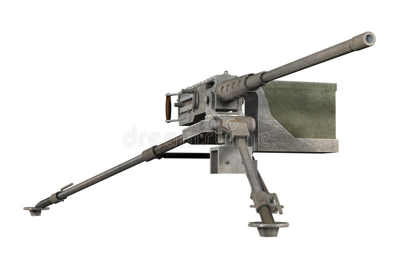 Brązowić Maszynowego pistolet ilustracji