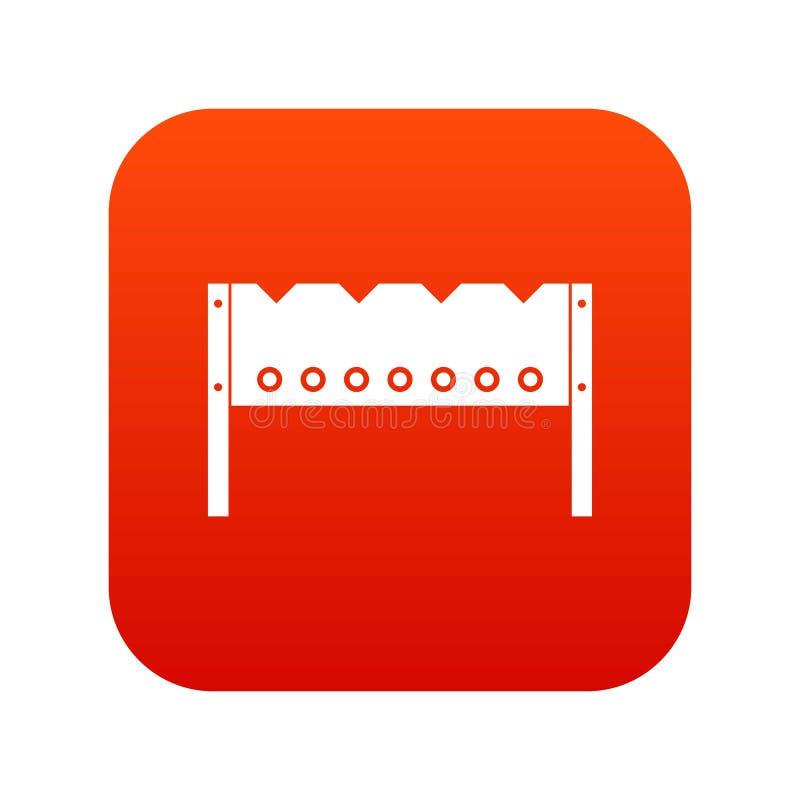 Brązownik ikony cyfrowa czerwień royalty ilustracja