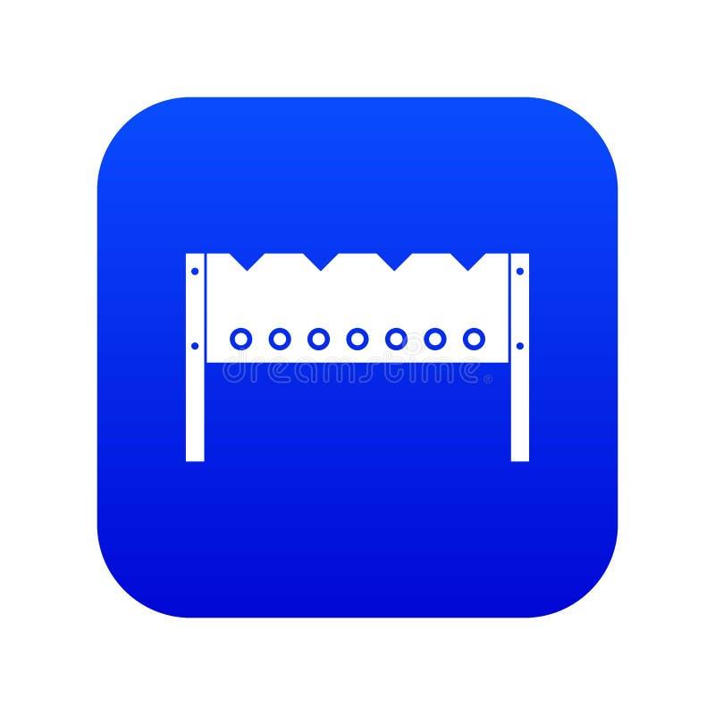Brązownik ikony cyfrowy błękit ilustracji