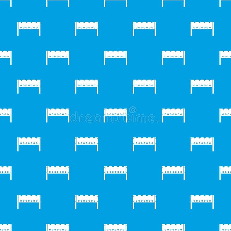 Brązownika deseniowy bezszwowy błękit royalty ilustracja