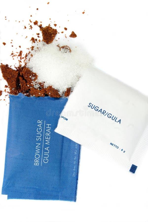 brązowy cukier biały fotografia stock