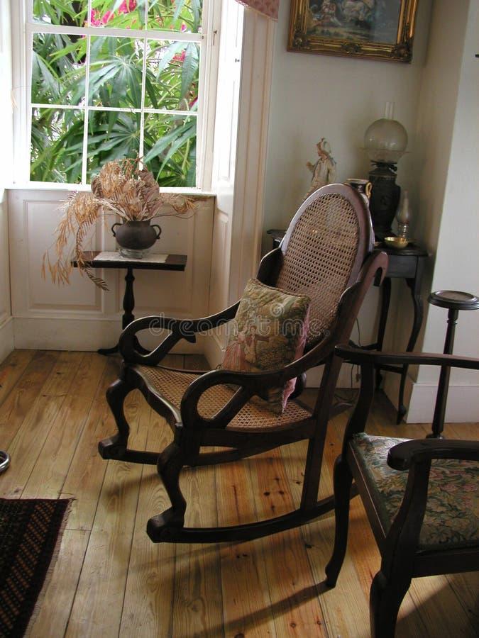 brązowy fotel plantacji zdjęcia royalty free