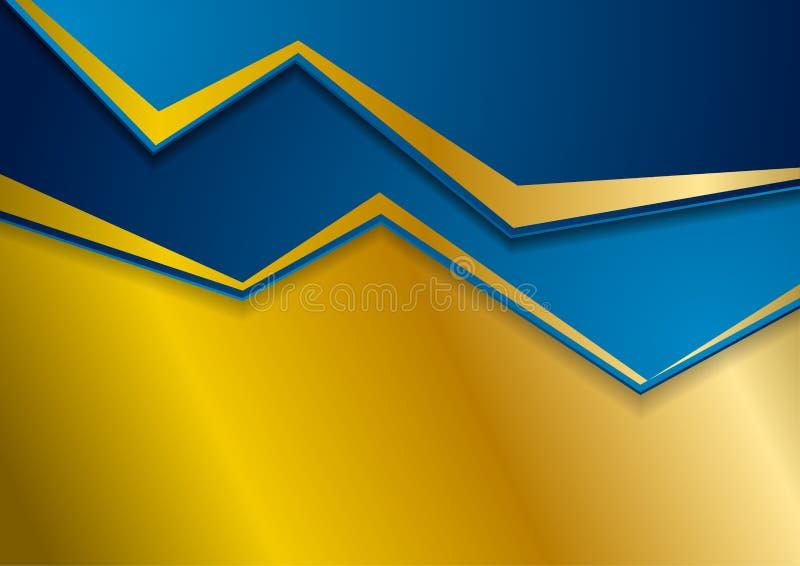 Brązowy i błękitny abstrakcjonistyczny korporacyjny tło ilustracja wektor