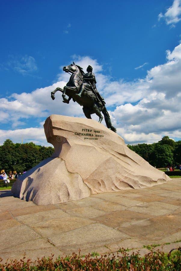 Download Brązowy Jeźdza święty Petersburg Zdjęcie Stock - Obraz złożonej z wielki, symbol: 57659842