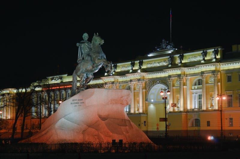 brązowy jeźdza Petersburg Russia święty obraz royalty free