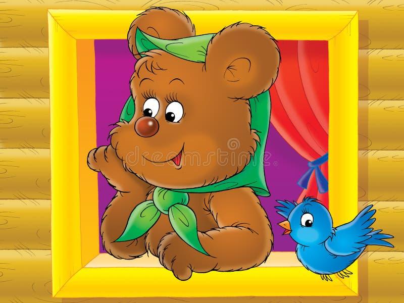 brązowy niedźwiedź royalty ilustracja