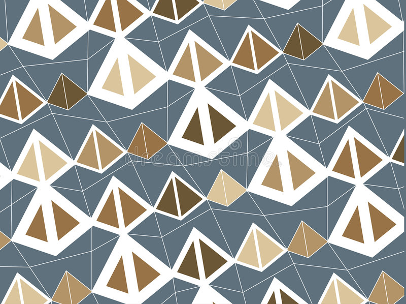 brązowy piramidy retro royalty ilustracja