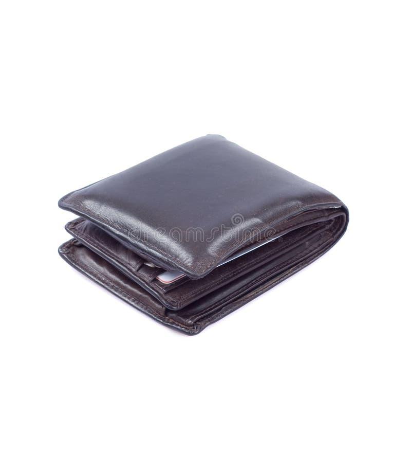 brązowy portfel. obraz stock