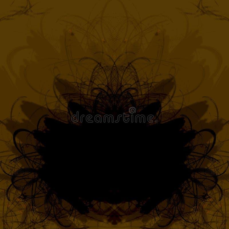 brązowy ramowy crunch royalty ilustracja