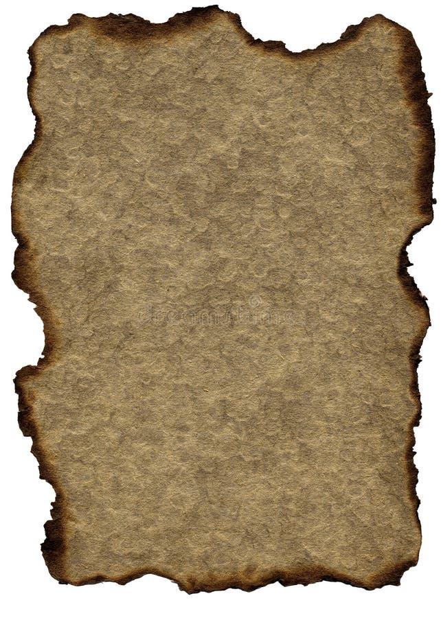 brązowy spalone grunge papieru rocznie obraz royalty free