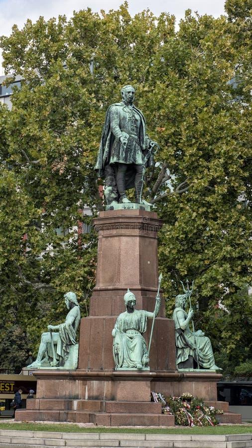 Brązowy statuy obliczenie Istvan Szechenyi, Węgierski polityk, polityczny teoretyk i pisarz, zdjęcie royalty free