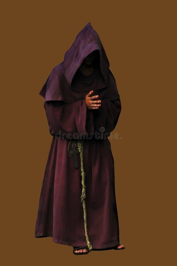 brązowy tła pojedynczy mnicha obrazy stock