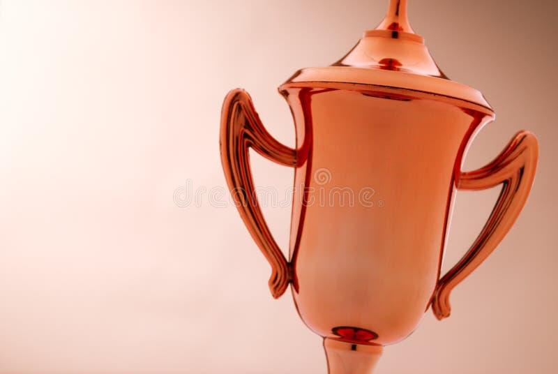 Brązowy trofeum z copyspace zdjęcie stock