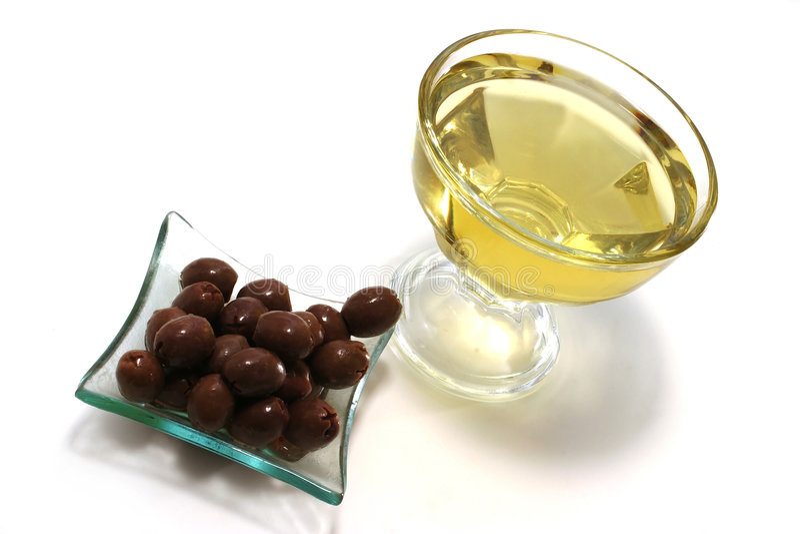 brązowy złoto oleju oliwki oliwki obraz royalty free