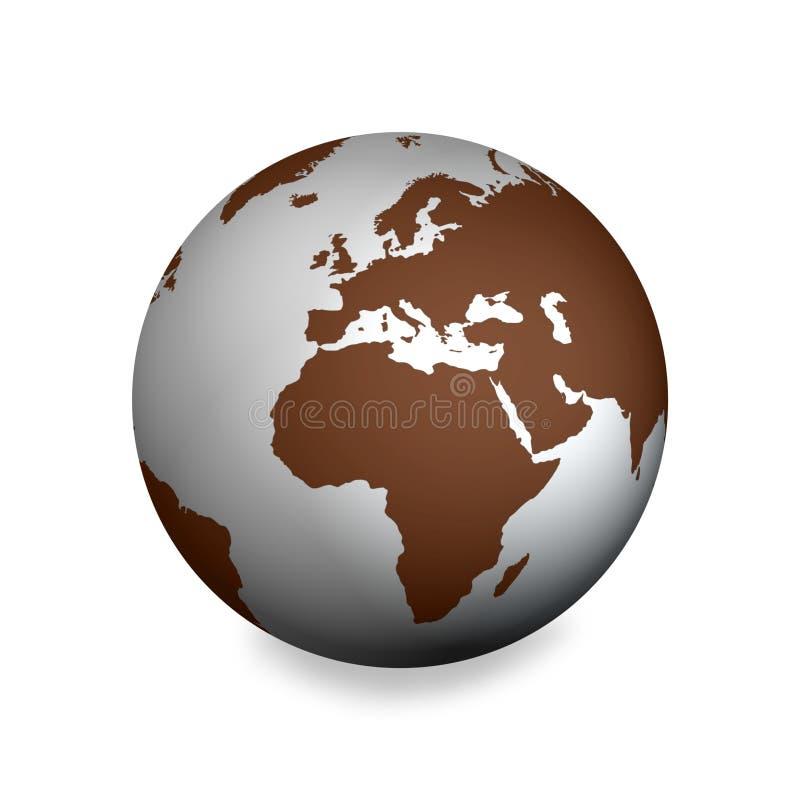 brązowy ziemi srebra ilustracji