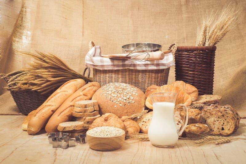 Br?d- och bageriprodukter fotografering för bildbyråer