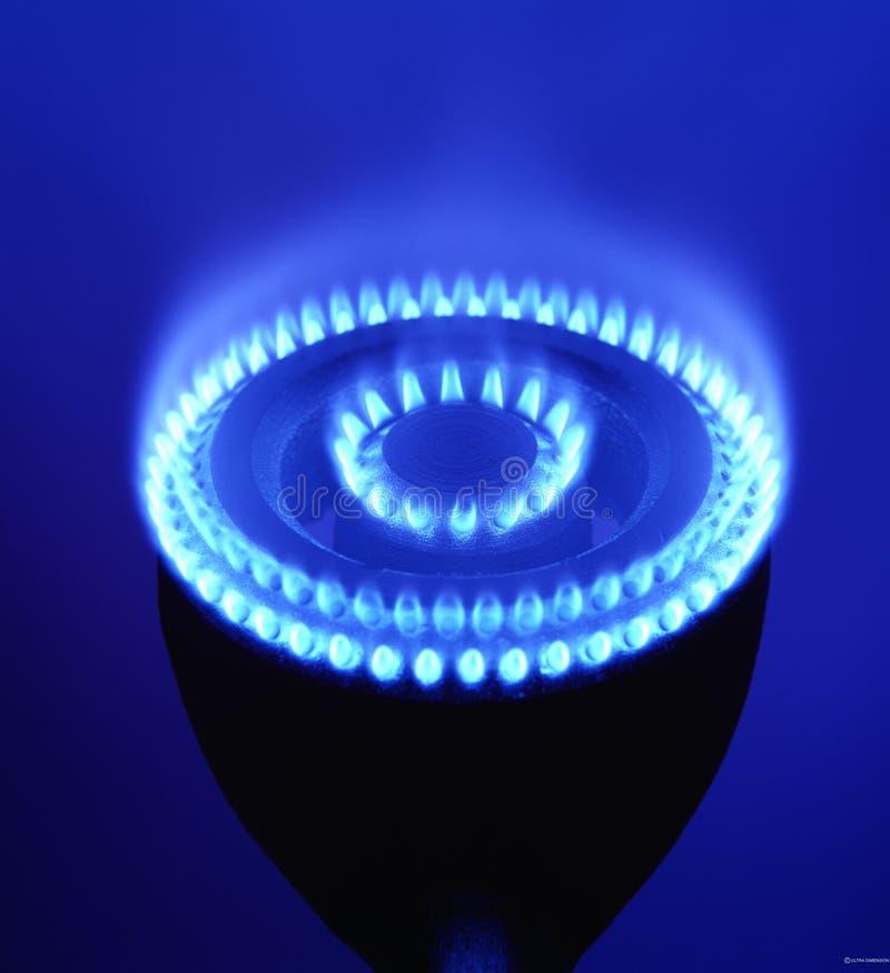 Brûleur à gaz avec le feu photographie stock