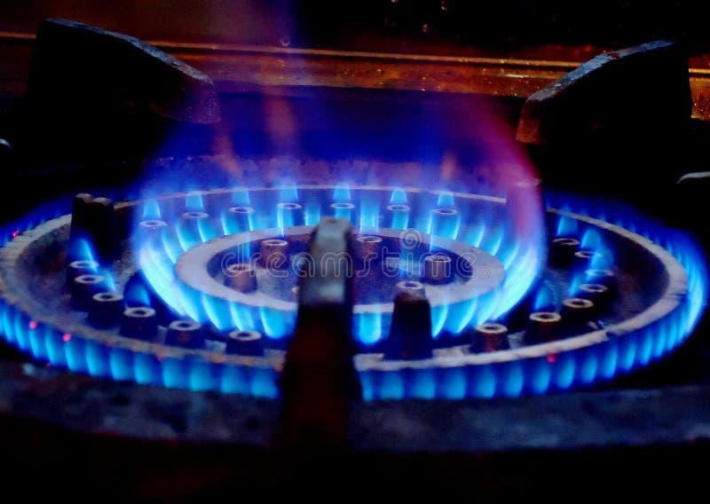 Brûleur à gaz d'éclairage photographie stock libre de droits