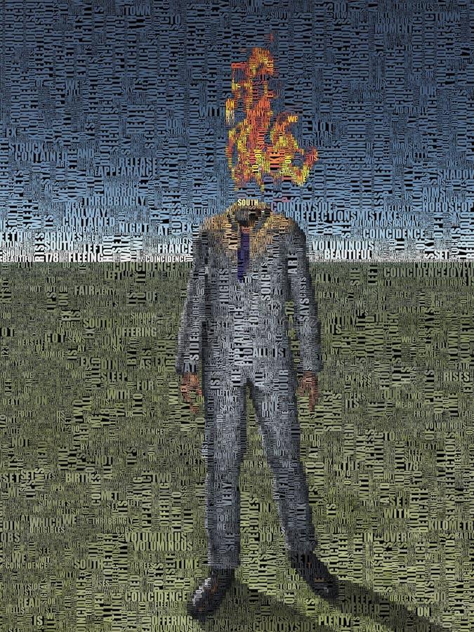 brûlure illustration stock