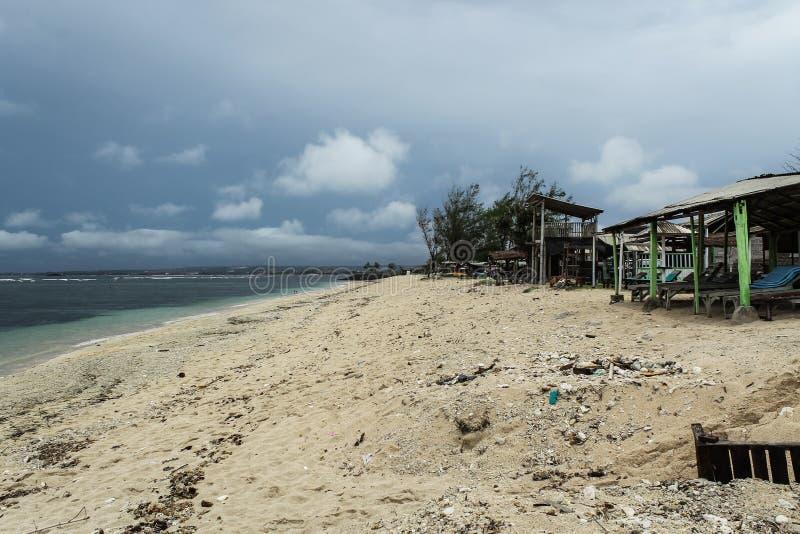 Br?nning p? den Serangan stranden fotografering för bildbyråer